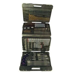 Image : Mallette de 204 accessoires assortis pour perceuse multimatériau SILVERLINE