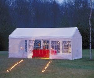 Tente Autoportante Pliable Acier Blanche 9 M²