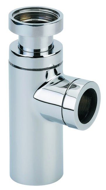 Siphon Lavabo Abs Chrome Cylindrix Reglable 50 120 Mm Valentin Diam 32 Mm Leroy Merlin