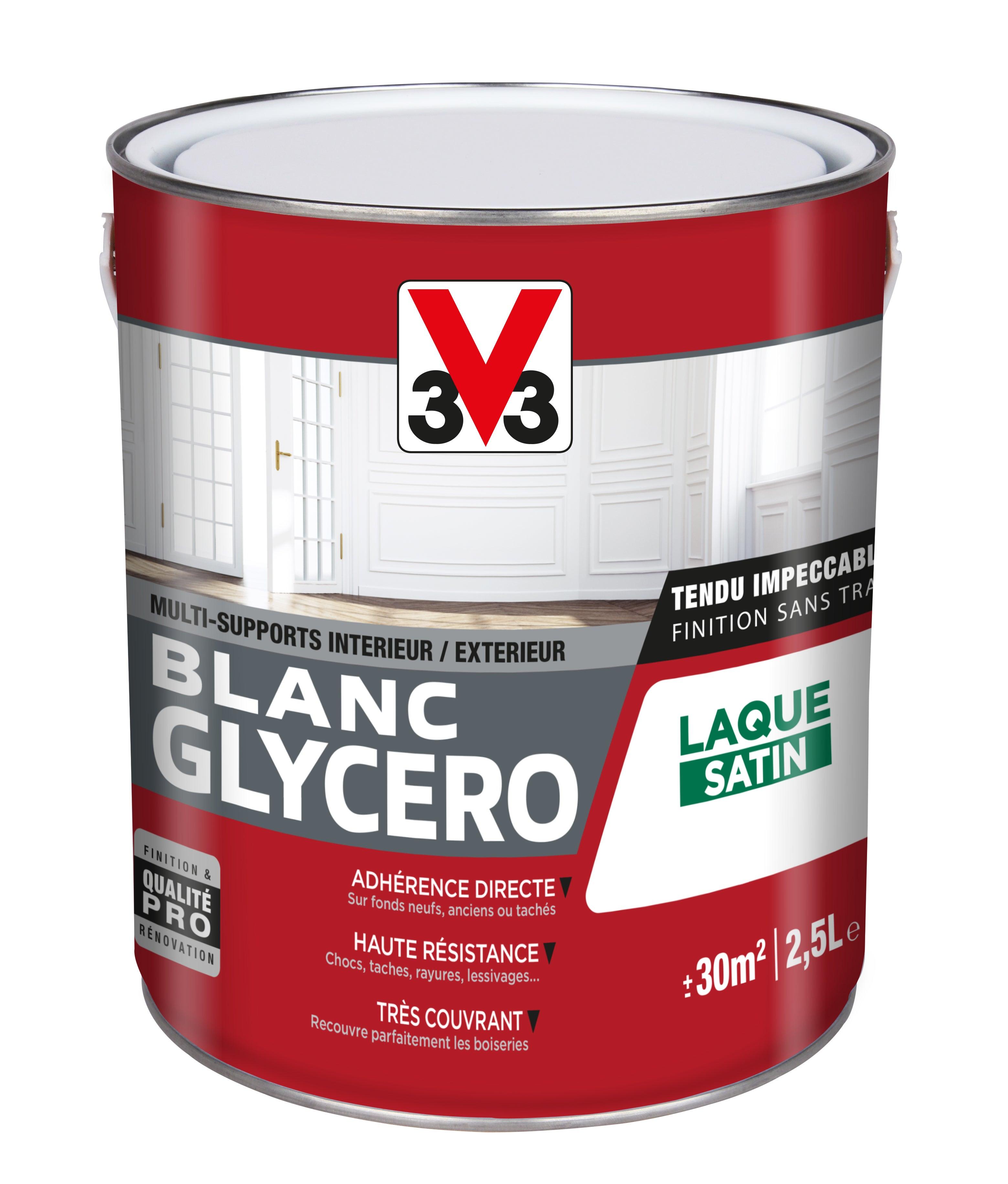 Peinture Multisupport V33 Glycero Blanc Satine 2 5 L Leroy Merlin