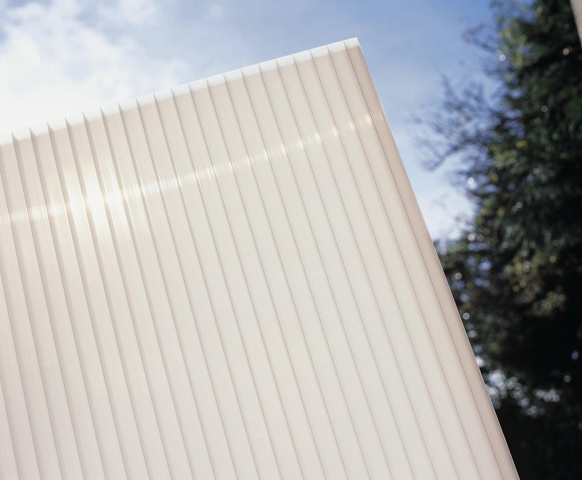 Plaque de toiture plat polycarbonate translucide opale l.1 ...