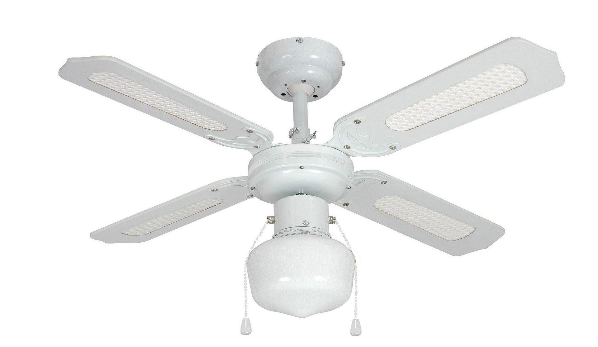 Ventilateur De Plafond Barbade Inspire Blanc Canne 60 W Leroy Merlin