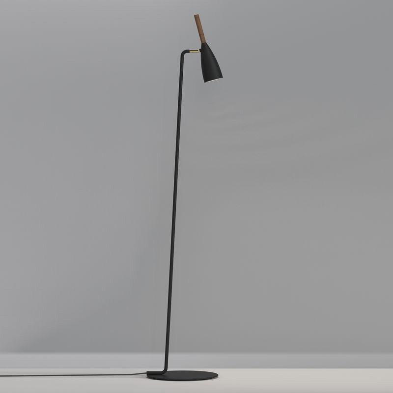 Lampadaire avec liseuse LED droit métal, NORDLUX Pure Noir