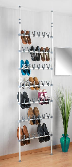 Range Chaussures A Poser Blanc 40 Paires Maximum H 100 Leroy Merlin