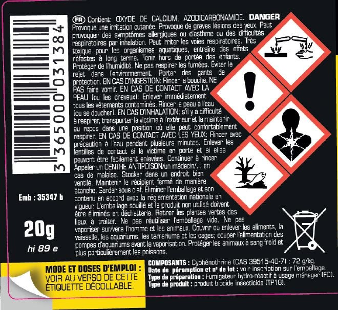 Insecticide Fumigene Tous Insectes Kapo 0 34 L Leroy Merlin