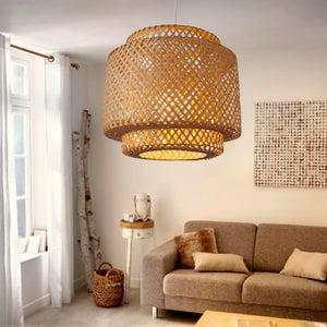 Image : Suspension, nature bambou naturel LUSSIOL Doramu 1 lumière(s) D.40 cm
