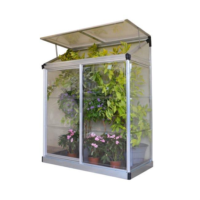 Serre De Jardin En Polycarbonate Simple Paroi Lean To Grow 0 75 M Leroy Merlin