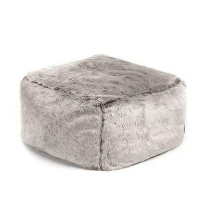 Image : Pouf d'intérieur basse gris Carré toudou, 45 x 45