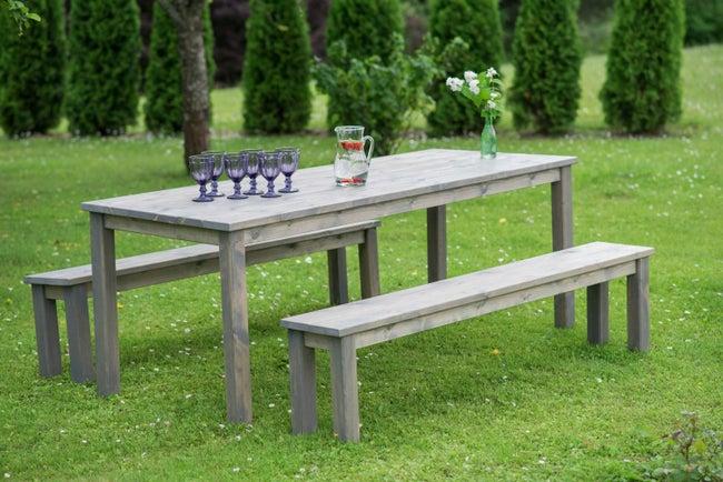 Salon de jardin Sapin bois gris, 6 personnes