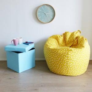 Image : Pouf d'intérieur jaune Poire, 75 x 75