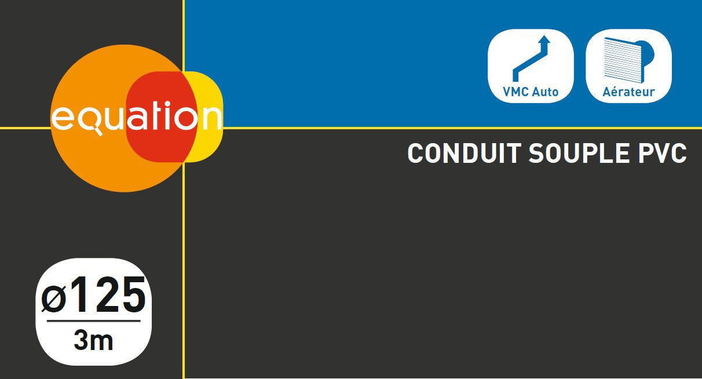 Conduit souple pvc EQUATION, Diam.125/125 mm, L.3 m Csp125