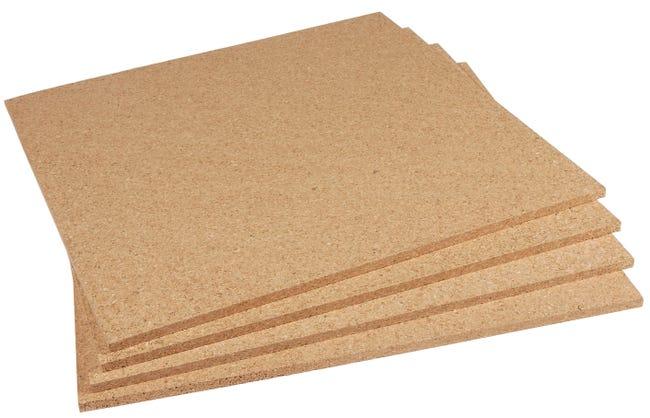 Carton De 4 Plaques Liege Mur Et Plafond Sdl L 0 5 X L 0 5 M X Ep 10 Mm Leroy Merlin