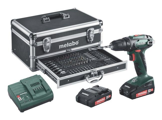 Perceuse Sans Fil Metabo 18 V 2 Ah 2 Batteries Bs18
