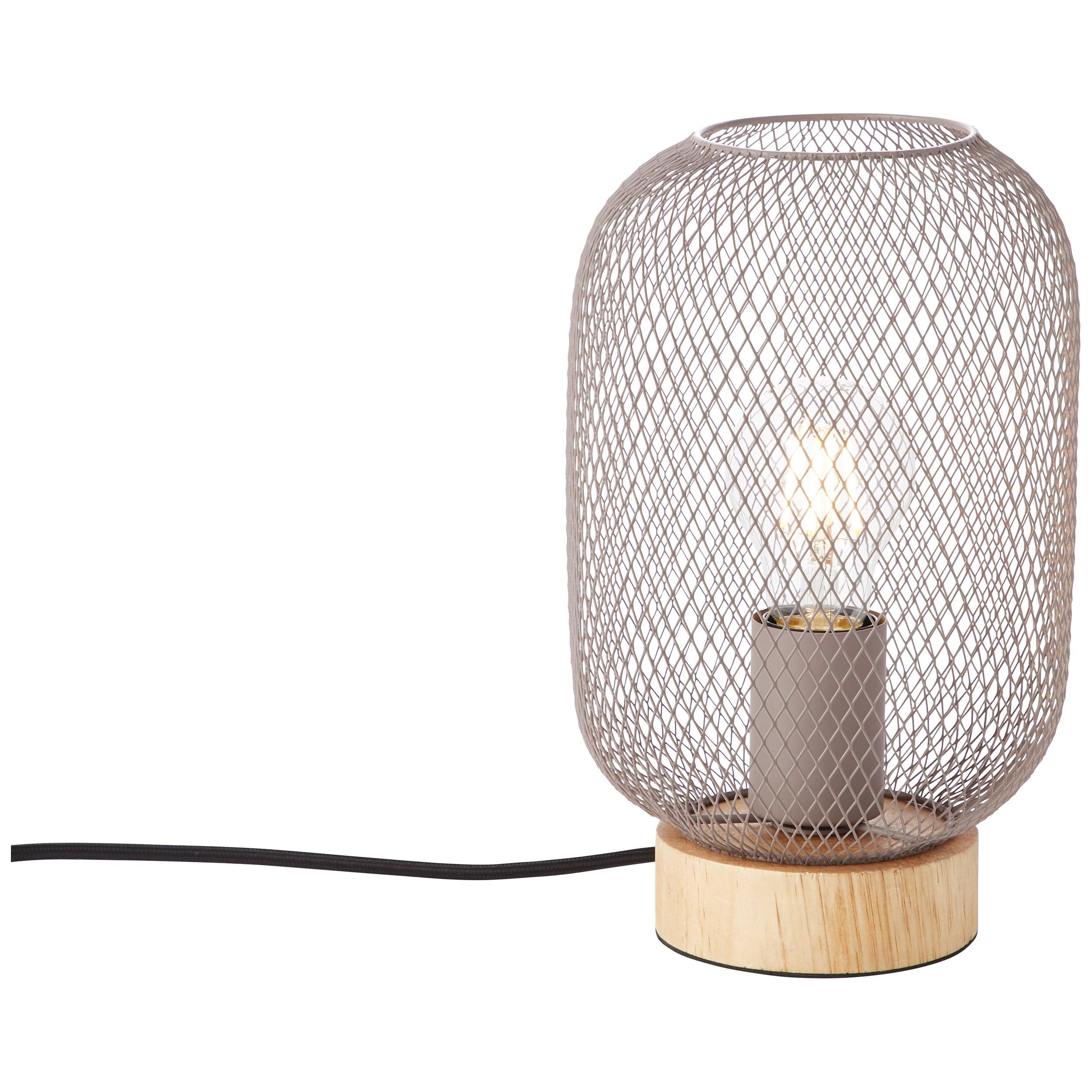 Lampe de salon charme romantique métal rose grisé, BRILLIANT Giada