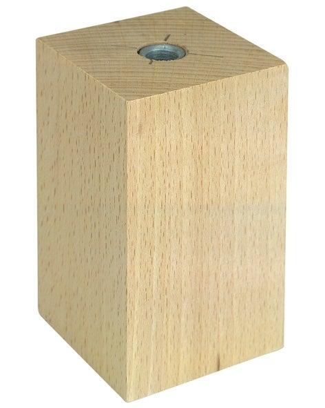 Pied De Lit Bois à Visser Diam50 X H80 Mm X L50 Mm