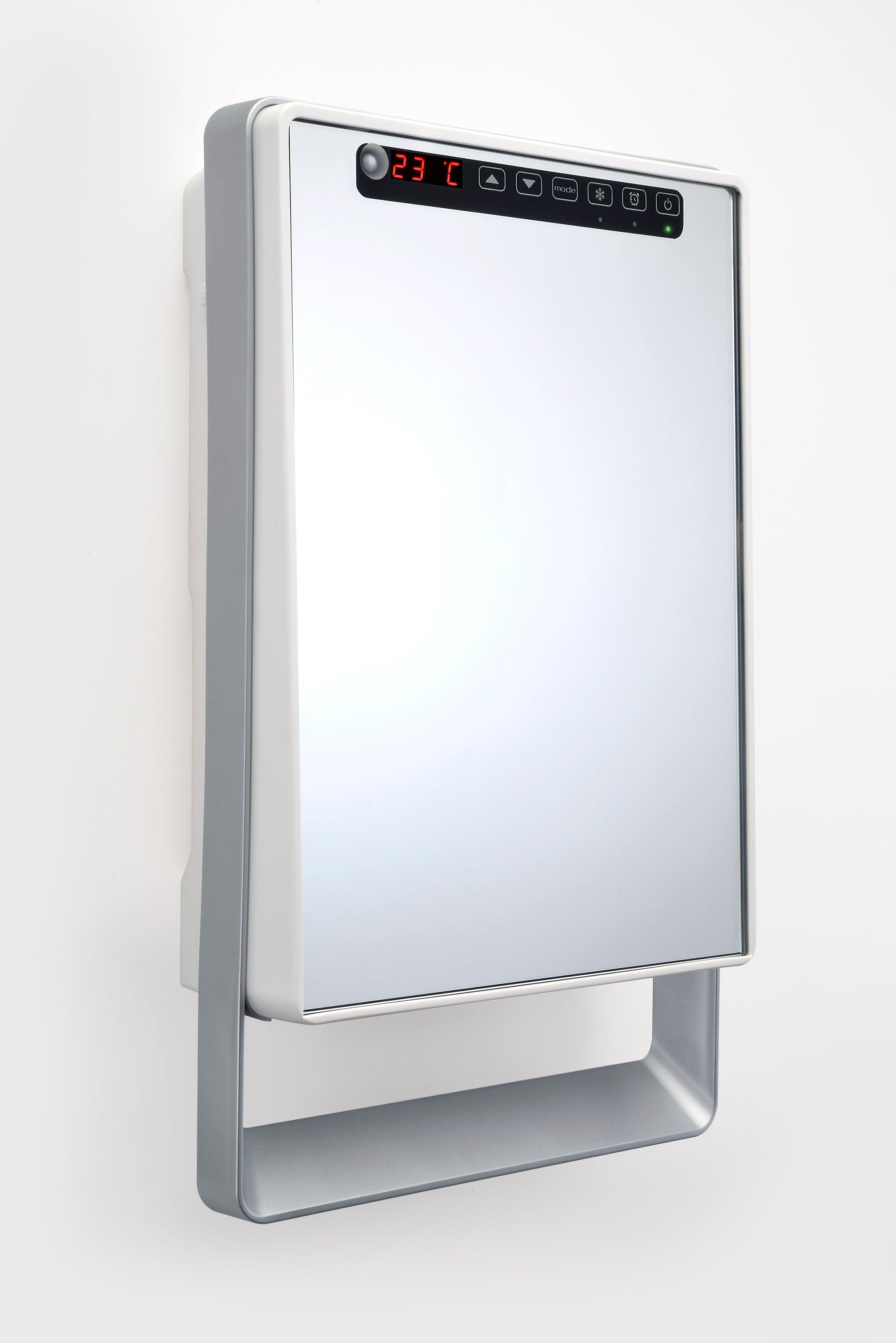 Radiateur soufflant salle de bain fixe électrique AURORA Touch miroir 19 W