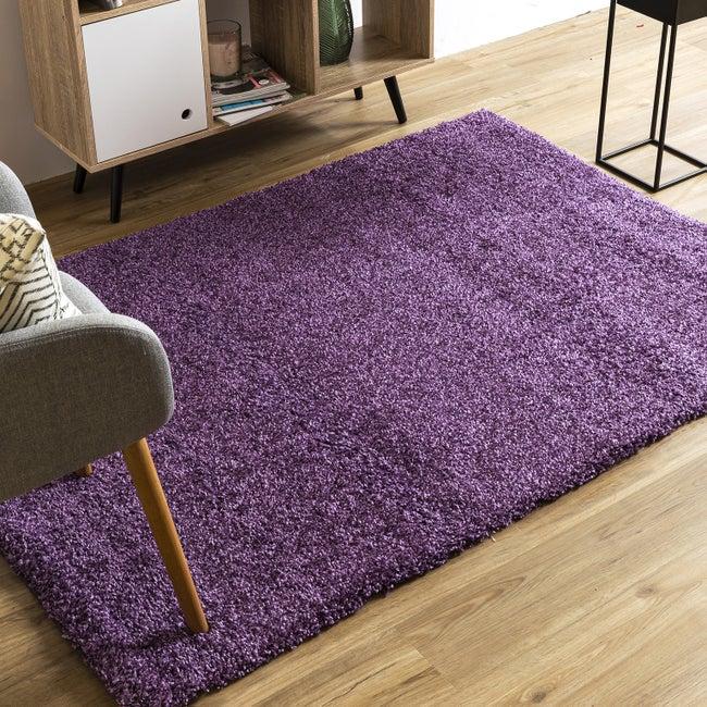 Tapis intérieur violet rectangulaire, l.200 x L.290 cm Sensa