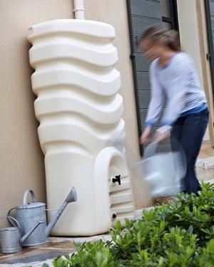 Image : Récupérateur d'eau et collecteur aérien EDA rectangulaire beige , 350 l