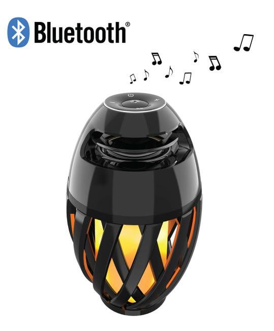 Lampe Enceinte Bluetooth musicale nomade, pvc noir pour haut parleur, DECOTECH   Leroy Merlin