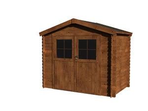 Image : Abri de jardin bois NATERIAL Kipo évolution + traité autoclave Ep.19 mm, 3.73 m²