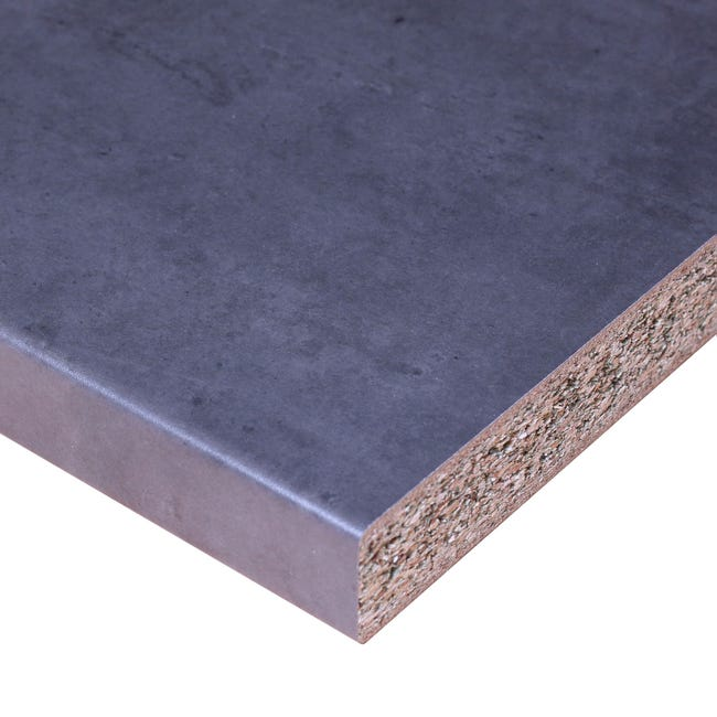 Plan De Travail Stratifie Anthracite New Mat L 246 X P 63 5 Cm Ep