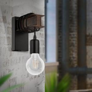 Image : Applique, industriel acier inoxydable rouille EGLO Medbourne 1 lumière(s)