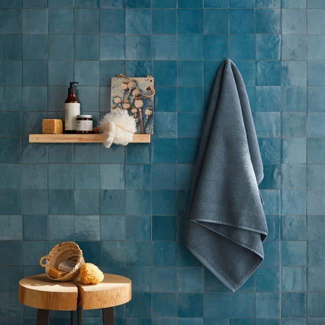 Carrelage Mur Forte Uni Bleu Turquoise Brillant L 10 X L 10 Cm Zellie Leroy Merlin