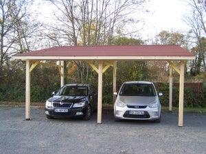 Carport Bois Av 4563 Bm 2 Voitures 20 79 M Leroy Merlin
