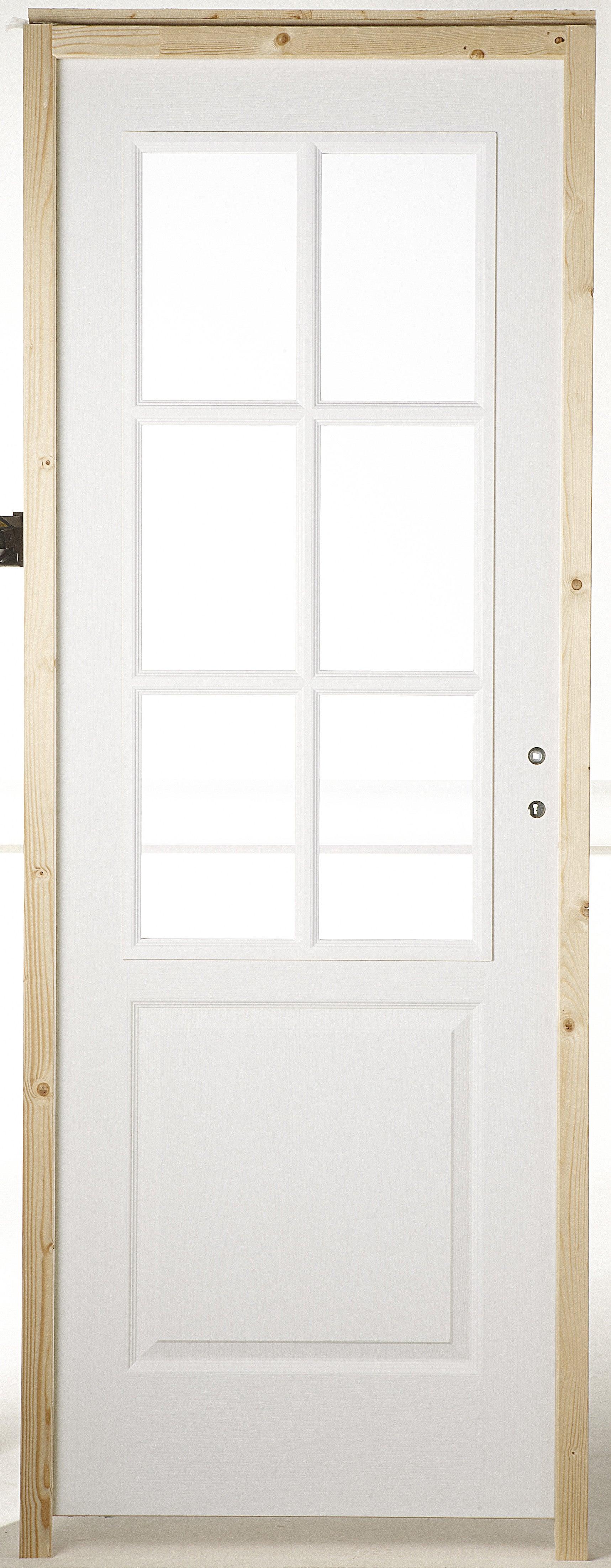 Bloc Porte Postforme A Vitrer Droite Huisserie 65 Mm H 204 X L 73 Cm Pous Gau Leroy Merlin
