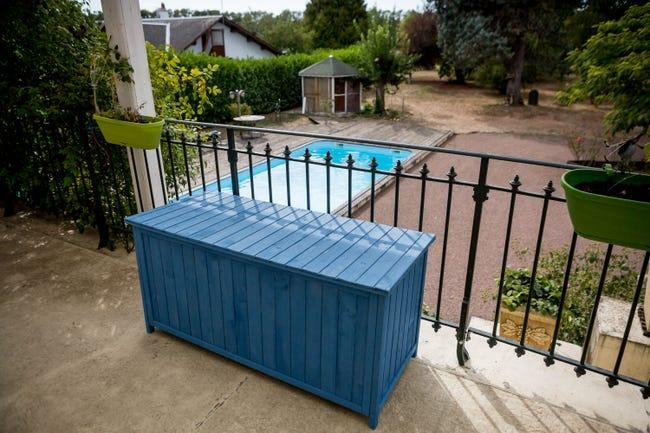 Coffre De Jardin De Jardin Box 1355 Bleu L 55 X H 60 X P 127 Cm Leroy Merlin