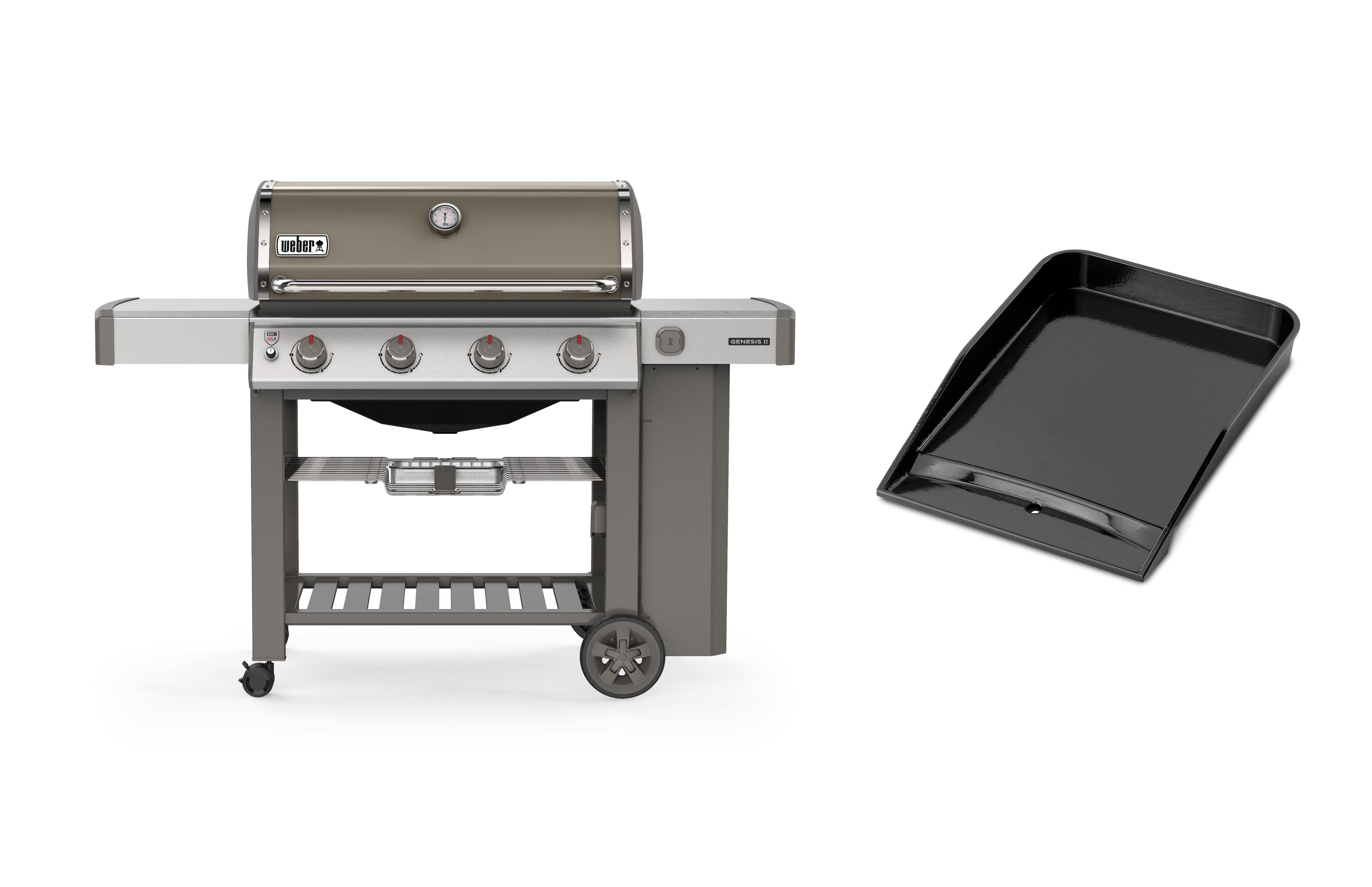 Barbecue Weber Genesis 2 E 410 GBS Black avec Plancha