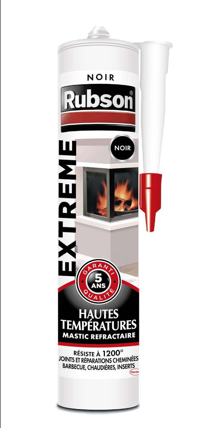 Mastic D Etancheite Rubson Hautes Temperatures Extreme 280 Ml Noir