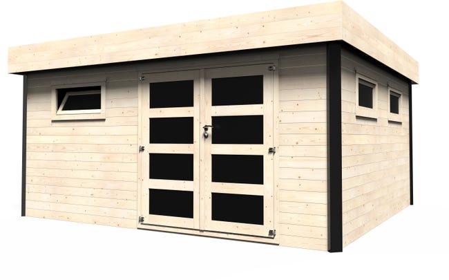 Abri de jardin bois DECOR ET JARDIN Elite Ep.8 mm, 8.8 m²
