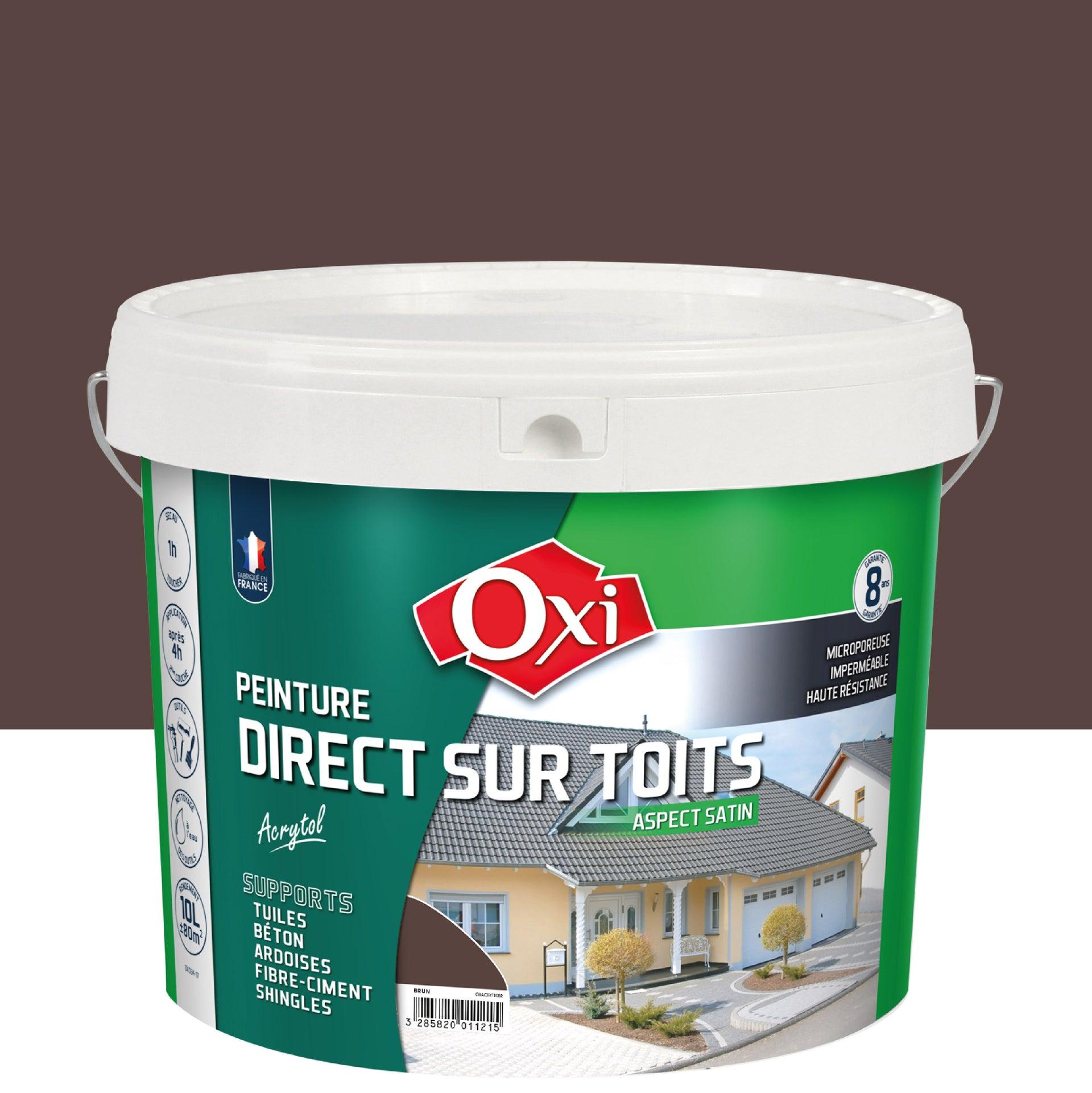 Peinture Toiture Exterieur Acrytol Oxytol Brun 10 L Leroy Merlin