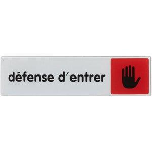 Plaque Defense D Entrer En Plexiglass Leroy Merlin