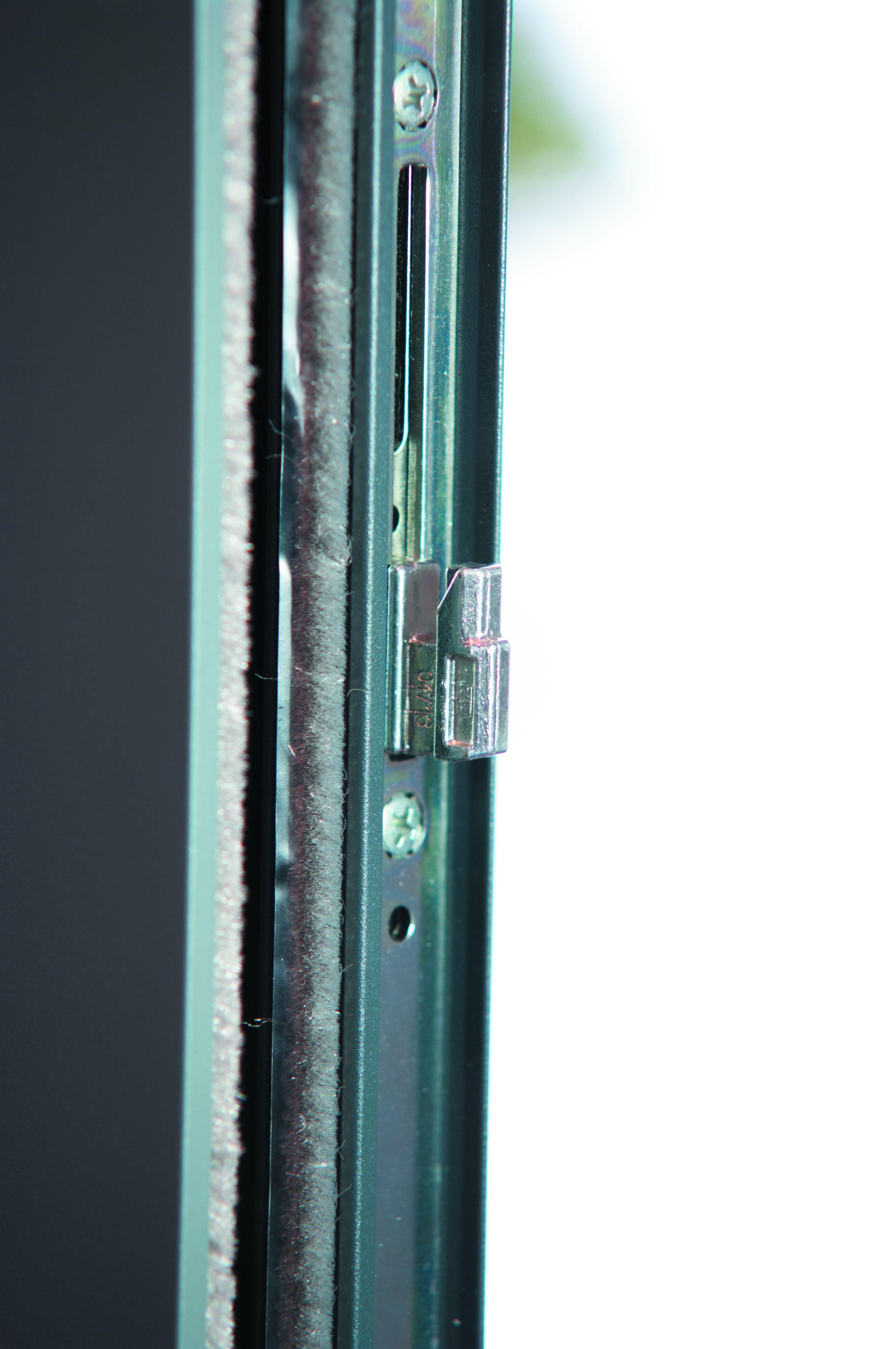 Baie Vitree Aluminium Gris Brico Premium H 215 X L 210 Cm Leroy Merlin