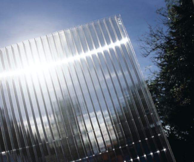 Plaque De Toiture Plat Polycarbonate Cellulaire Translucide L 0 98 X L 3 M Sedpa Leroy Merlin