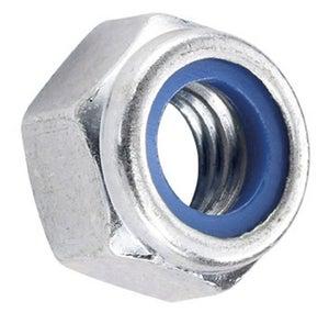 Image : Lot de 50 ecrous indesserrable acier, Diam.10 mm STANDERS