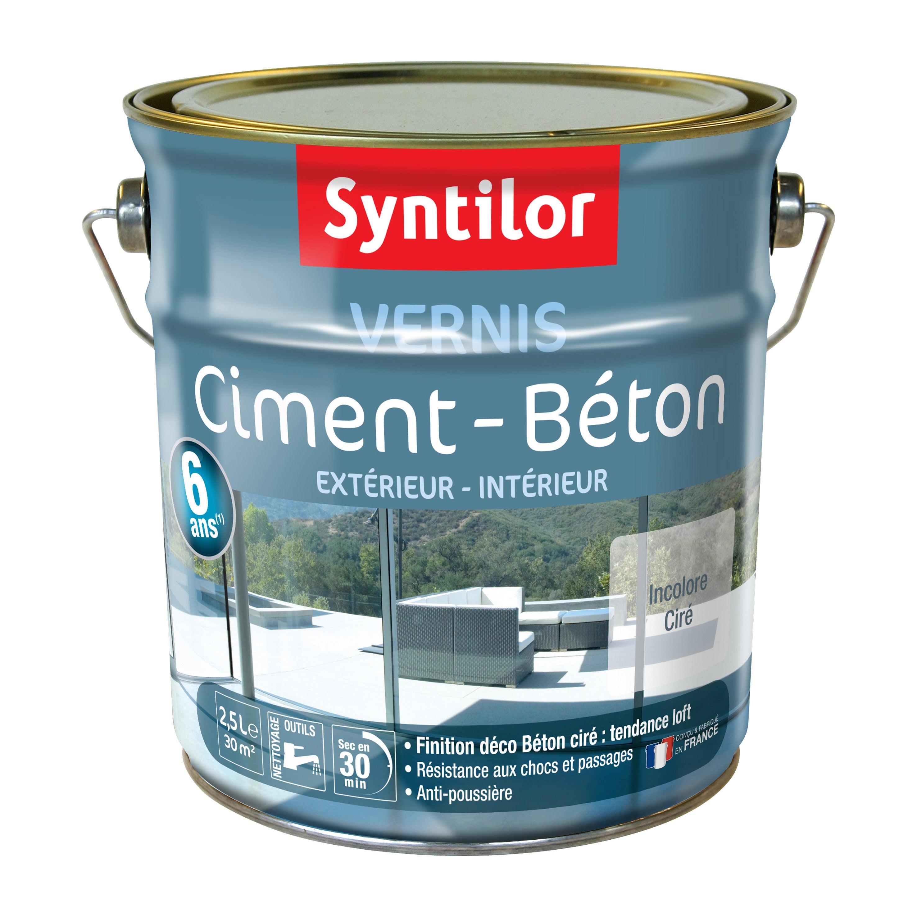 Vernis Ciment Exterieur Interieur Ciment Syntilor Incolore Satine 2 5 L Leroy Merlin