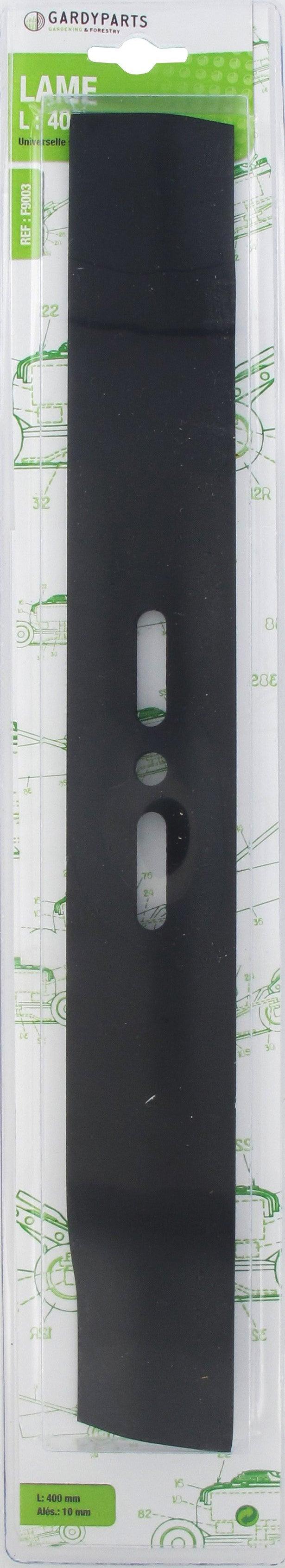 Lame Soufflante Universelle Droite L 400mm Alésage 10mm Sous Coque