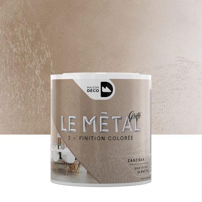 Enduit Decoratif Le Metal Griffe Maison Deco Zanzibar 0 5 L Leroy Merlin