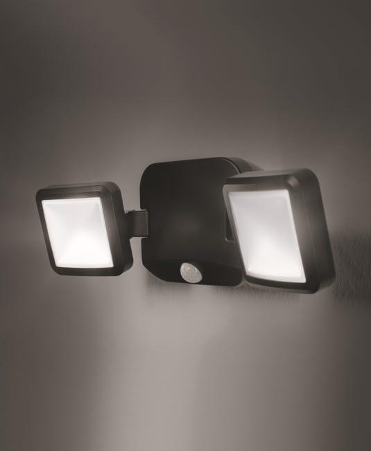 Projecteur Avec Detecteur A Piles Spotlight Double Noir 480 Lumen Ledvance Leroy Merlin