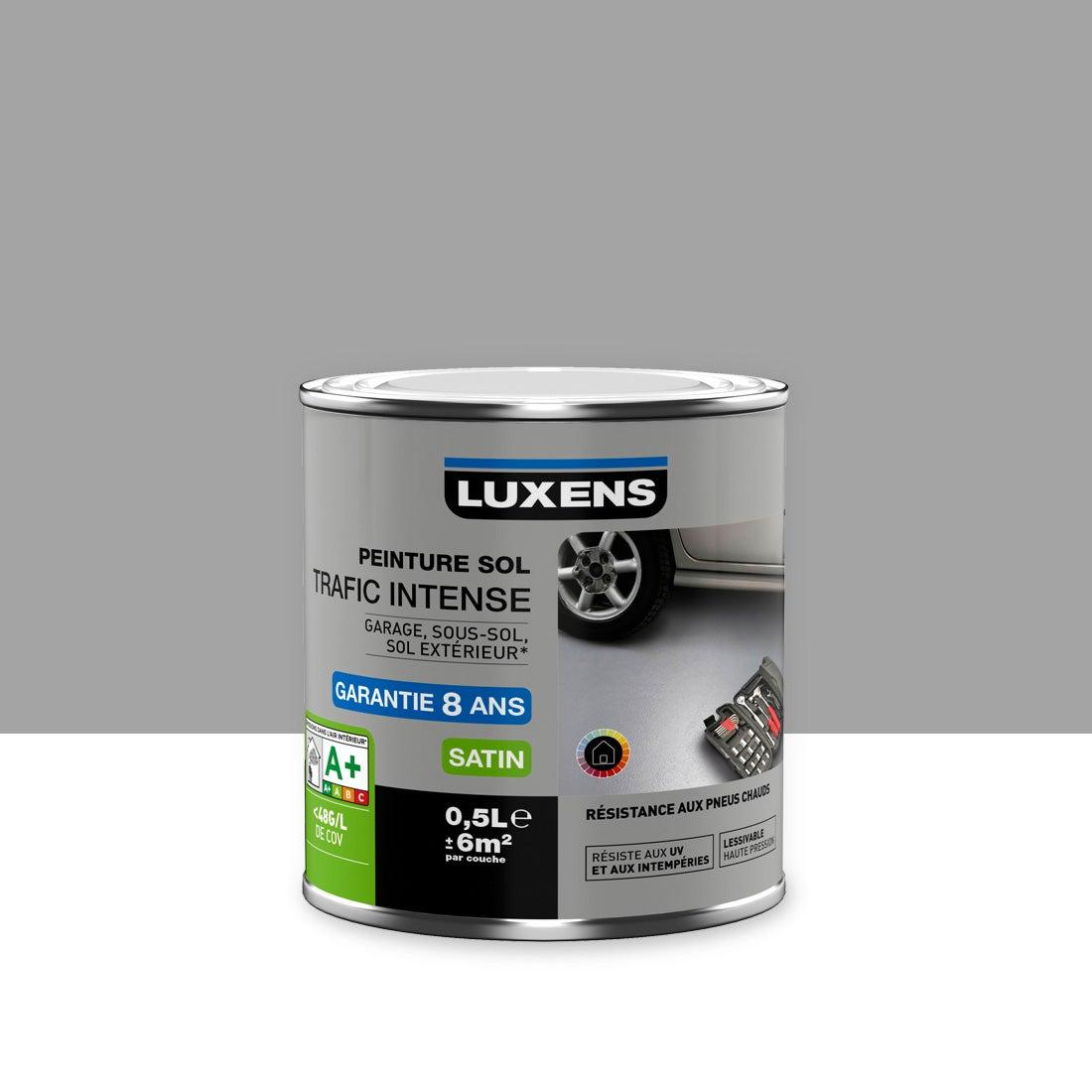 Peinture sol extérieur / intérieur Trafic intense LUXENS, gris galet n°9,  9.9 l