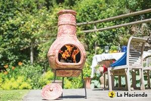 Cheminée Mexicaine Au Charbon De Bois Flower Paille