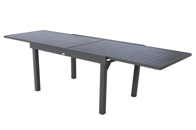 Table de jardin de repas HESPERIDE Piazza rectangulaire gris 10 personnes