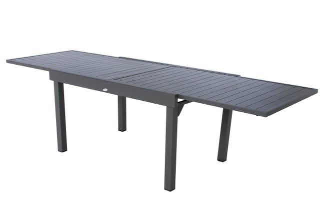 Table De Jardin De Repas Hesperide Piazza Rectangulaire Gris 10 Personnes Leroy Merlin