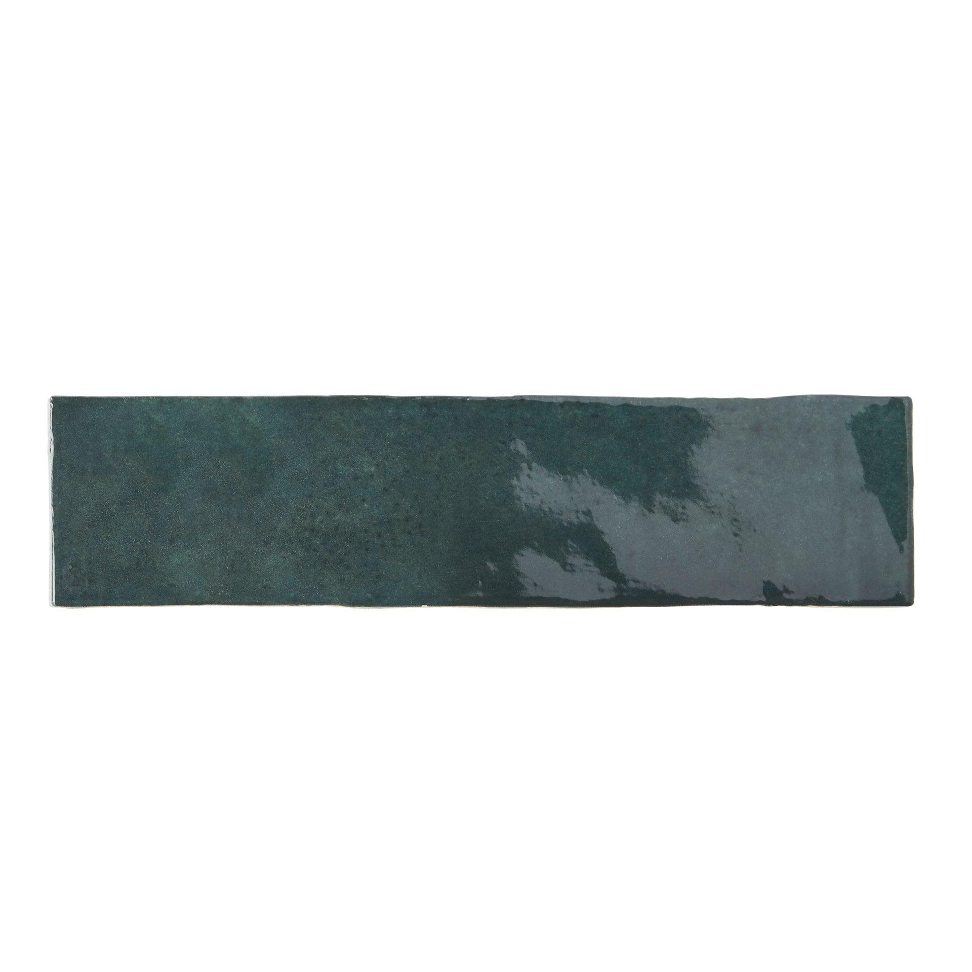 Carrelage Mur Forte Vert Fonce Brillant L 7 5 X L 30 Cm Bakerstreet Leroy Merlin