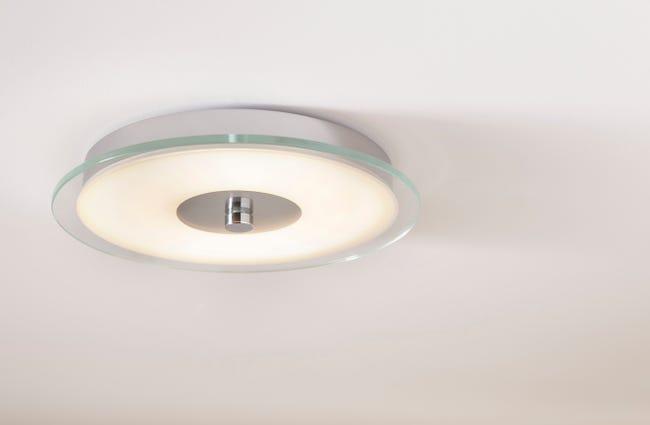 Plafonnier Classique Metal Transparent Led Integree Paulmann Pollux Leroy Merlin