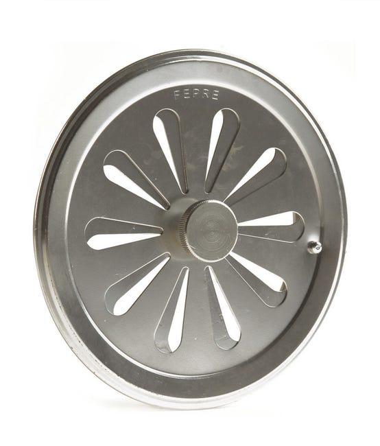 Grille D Aeration Aluminium Chrome Diam 12 Cm Leroy Merlin