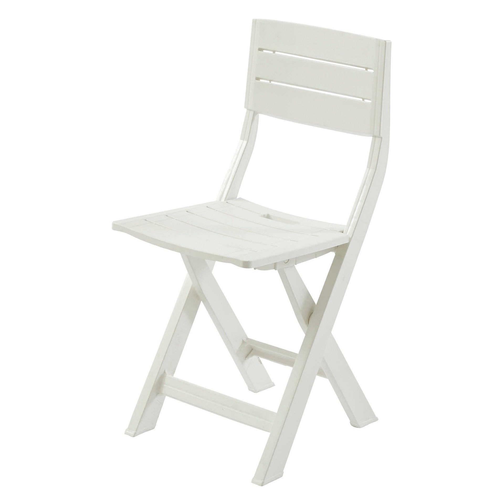 Chaise de jardin en résine injectée Gilda blanc